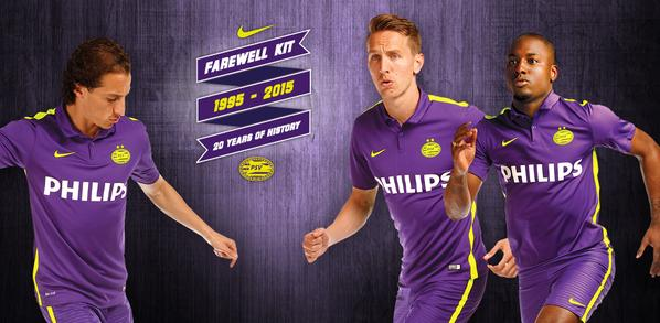 Last PSV Nike Kit 2015- New Special Purple PSV Eindhoven Farewell Shirt 2015