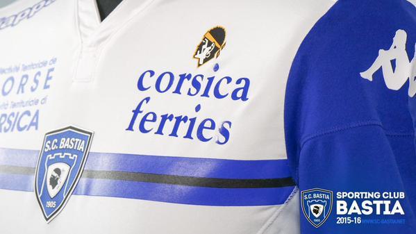 SC Bastia Away Shirt 2015-16 Kappa