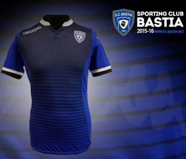 SC Bastia Jersey 2015-2016 New Bastia Home Kit 15-16 Kappa