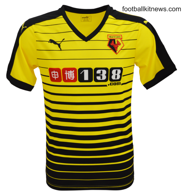 New Watford Home Kit 15-16- Watford FC Puma Jersey 2015-2016