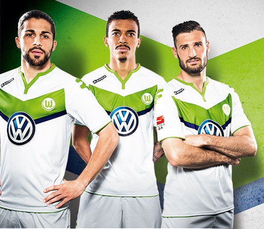 New Wolfsburg Kit 15-16- Kappa VFL Wolfsburg Home Jersey 2015-2016