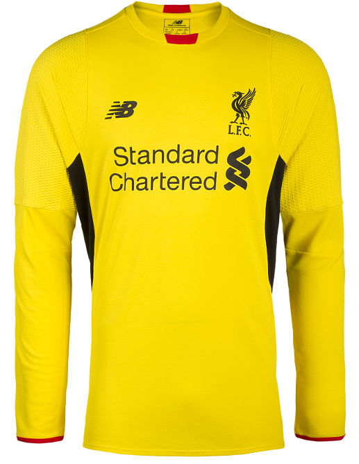 Yellow Liverpool Goalkeeper Kit 15 16