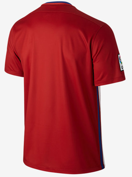 Back of Atletico Madrid Shirt Red Colour