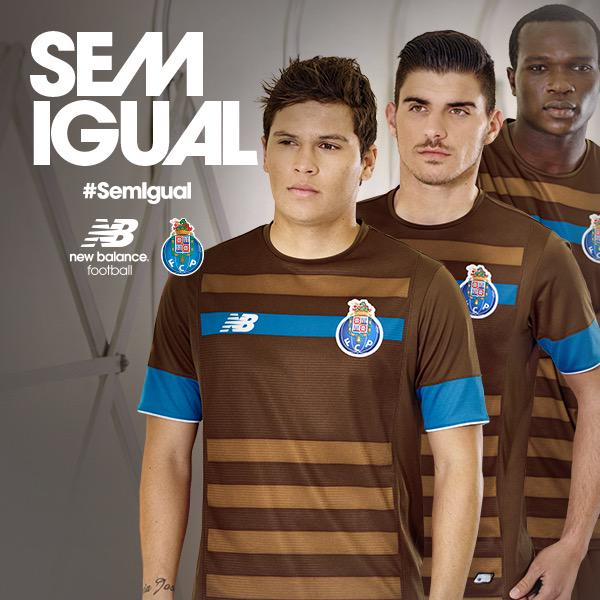 Brown Porto Shirt 2015-16- New Balance FC Porto Away Kit 15-16