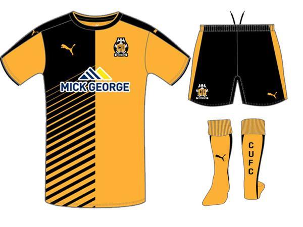 Cambridge United Home Shirt 2015 16