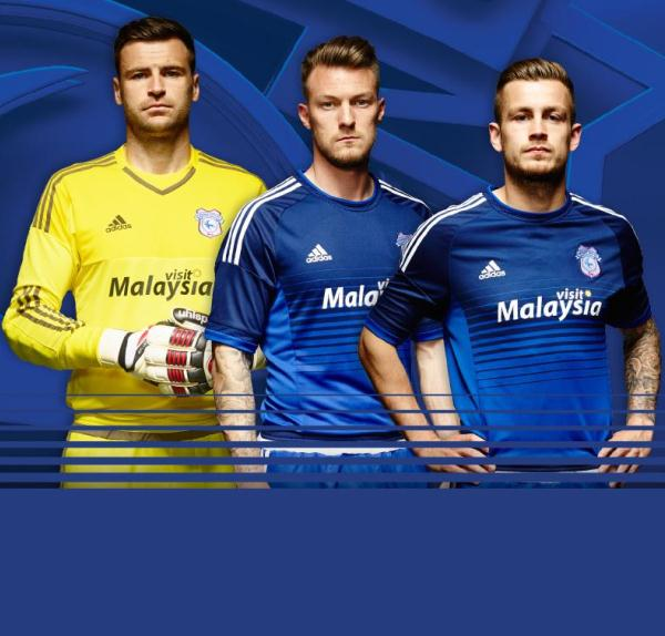 New Cardiff City Home Kit 15-16 CCFC Adidas Home Jersey 2015-2016