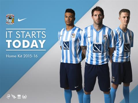 Coventry Nike Kit 2015-16 New CCFC Home Shirt 2015-2016