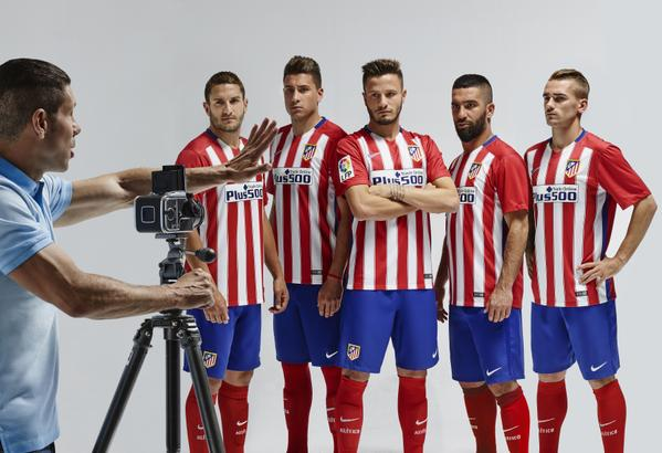 New Atletico Madrid Kit 15-16- Nike Atleti Home Jersey 2015-2016