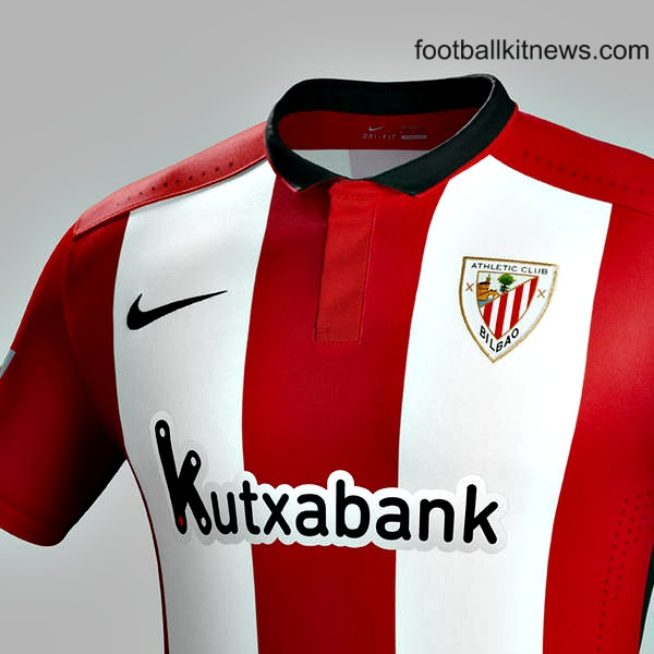 New Athletic Bilbao Kit 2015-16 Bilbao Nike Home Jersey 2015-2016