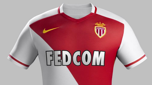 New Monaco Kit 15-16 Nike AS Monaco Home Jersey 2015-2016