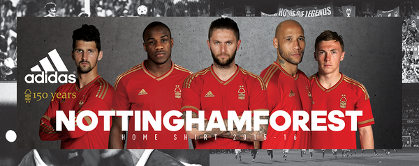 New Nottingham Forest Home Kit 2015-16 NFFC 150th Anniversary Shirt 15-16