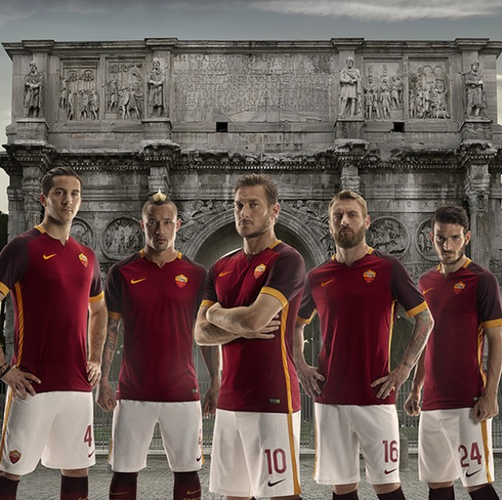 New Roma Kit 15-16- AS Roma Nike Jersey 2015-2016 Home