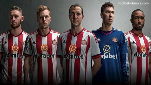 New Sunderland Strip 2015-16 SAFC Adidas Home Kit 15-16