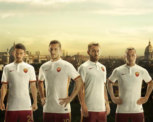 White Roma Jersey 2015-2016- New AS Roma Away Kit 2015-16 Nike