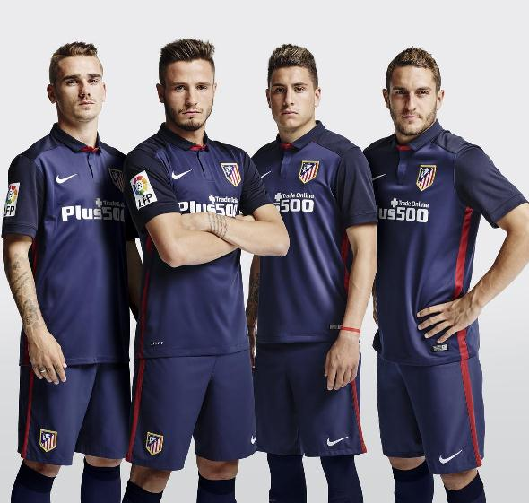 Blue Atletico Madrid Away Shirt 2015-16- Nike Atleti Alternate Kit 15-16