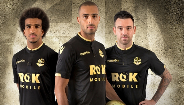 Black Bolton Jersey 2015-2016- Macron BWFC New Away Kit 15-16
