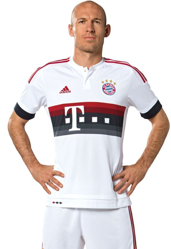 White Bayern Jersey 2015-2016- Adidas FC Bayern Munich Away Kit 15-16