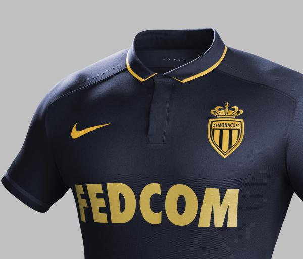 Blue Monaco Away Jersey 2015-16 Nike ASM Away Kit 15-16