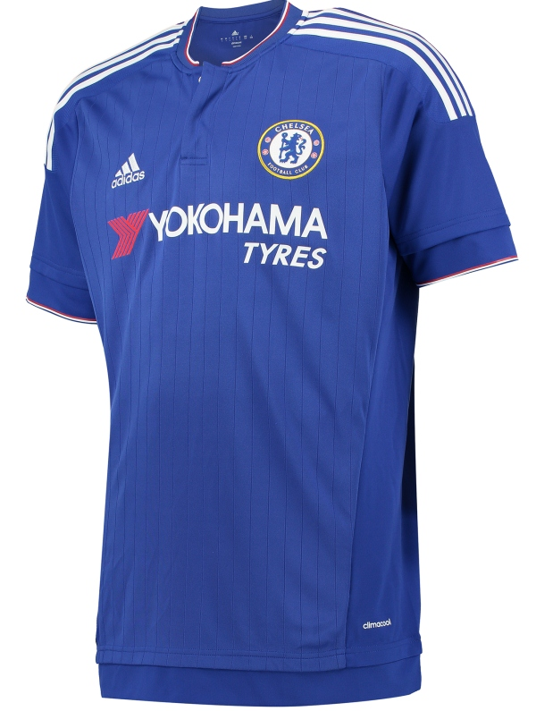 New Chelsea Shirt 2015-2016- Adidas CFC Home Kit 15-16 Yokohama Tyres