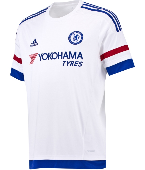 White Chelsea Away Shirt 2015/16- Adidas CFC Alternate Kit 15-16