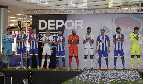 New Deportivo La Coruna Kits 2015/16- Lotto Home Away Third Jerseys