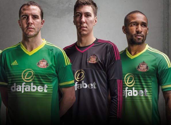 Green Sunderland Shirt 2015/2016- Adidas SAFC Away Top 2015-16