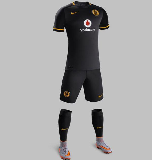 Kaizer Chiefs Away Kit 2015/16- Black KC Alternate Jersey by Nike