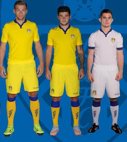 Yellow Leeds Away Kit 2015-2016 Kappa LUFC Alternate Shirt 15-16