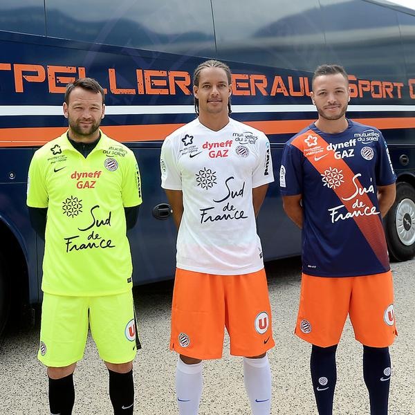 new montpellier kits 2015 16 mhsc jerseys 2015 2016 home away football kit news new soccer. Black Bedroom Furniture Sets. Home Design Ideas