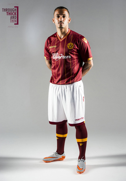 Motherwell Away Strip 2015 16