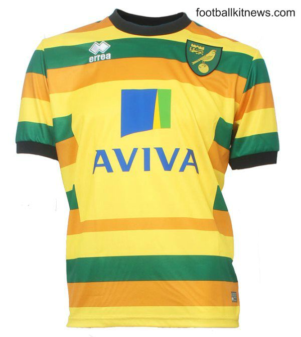 Norwich Third Kit 15/16- Errea New NCFC 3rd Shirt 2015/16