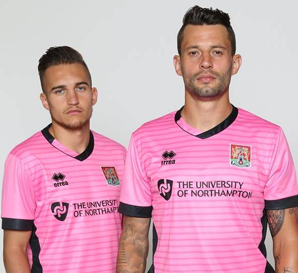 New Northampton Town Kit 15/16- NTFC Errea Shirts 2015-16 Home Away