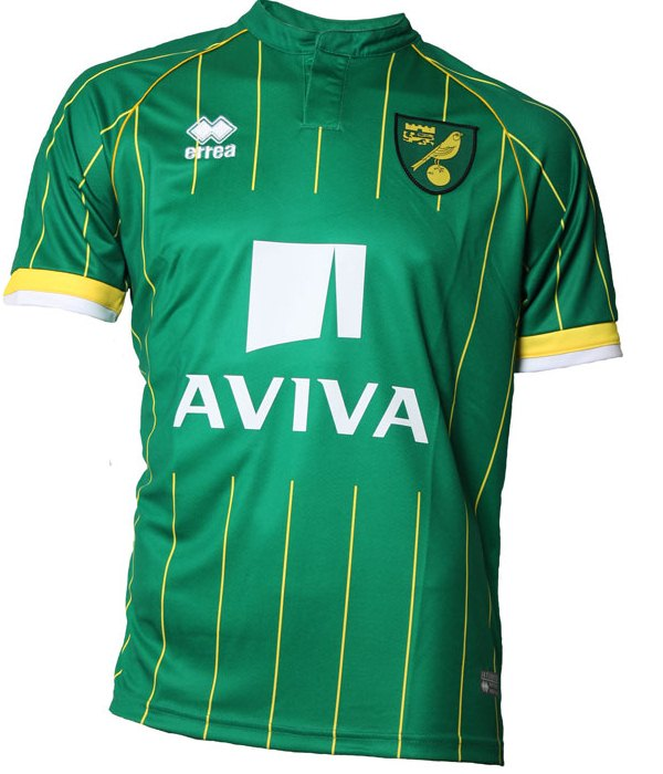 NCFC Away Kit 15-16 Norwich City New Alternate Shirt 2015-16 Errea