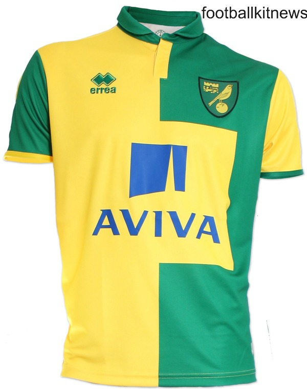 New Norwich Kit 15-16- Errea Norwich City Home Jersey 2015-2016