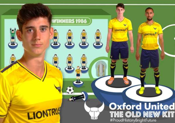New Oxford United Kit 2015-16 OUFC Home Shirt 15-16