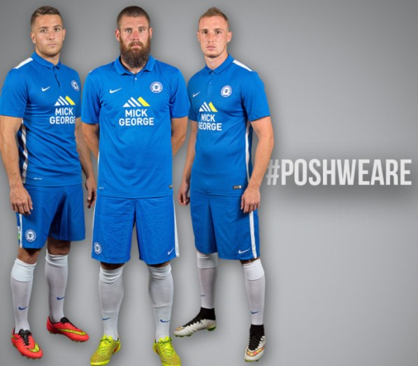 New Posh Home Kit 15-16 Peterborough United Home Shirt 2015-2016