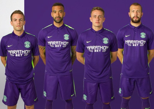 Purple Hibs Shirt 2015-2016- Nike Hibernian FC Away Kit 2015/16