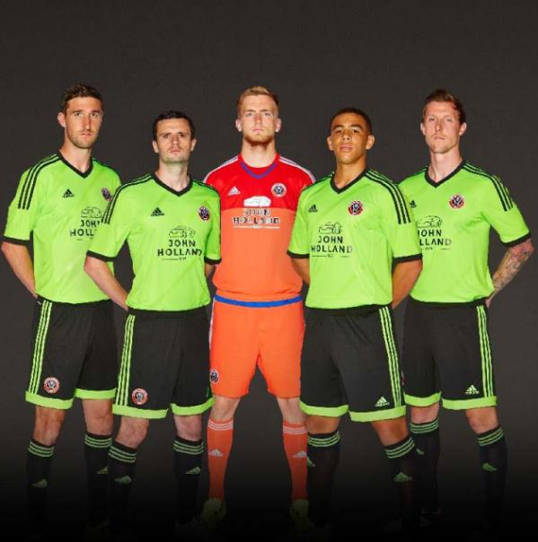 New Sheffield United Away Kit 2015-2016- Green SUFC Alternate Shirt 15-16