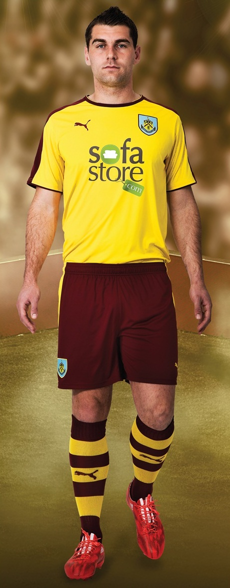 Yellow Burnley Away Kit 15/16- Puma Burnley FC Alternate ...