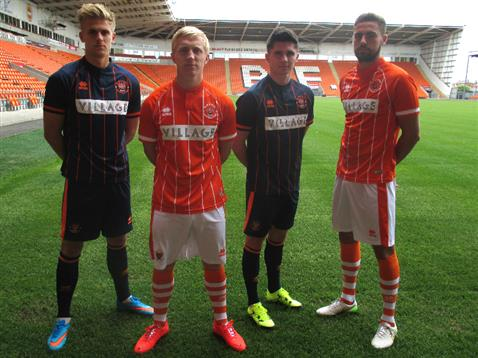 New Blackpool Kits 15/16- Village Hotels Errea Blackpool FC Shirts 2015-2016