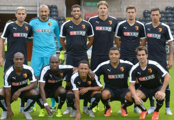 Black Watford Away Kit 2015-16- Puma Watford FC Alternate Shirt 15-16