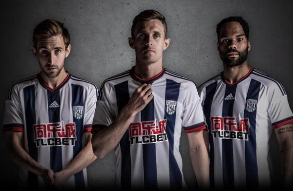 New WBA Home Kit 2015-16- Adidas West Bromwich Albion TLCBET 2015-2016 Shirt