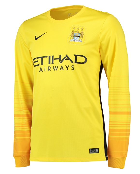 Yellow Man City Goalkeeper Shirt 15 16