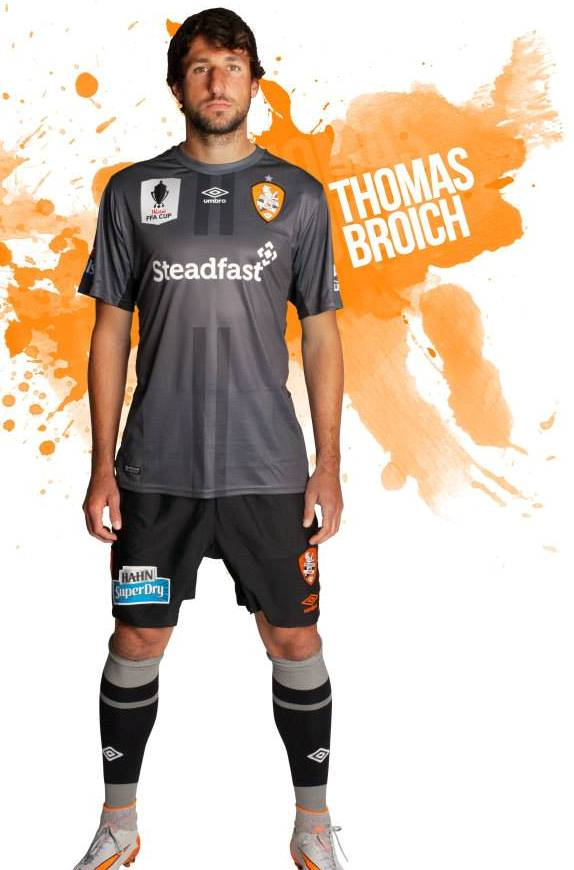Brisbane Roar Grey Shirt 2015 16