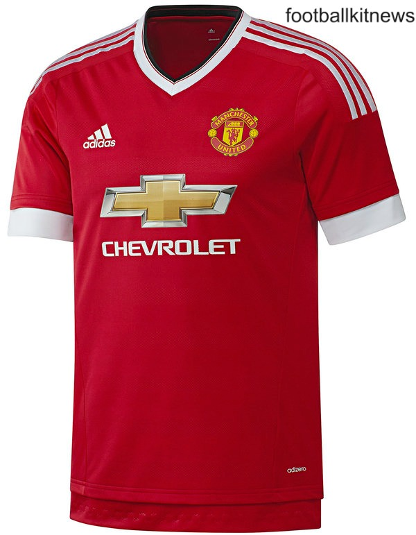 New Manchester United Home Kit 15/16- Man Utd Adidas Home Shirt 2015-2016