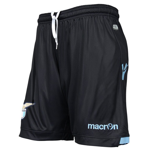 New Lazio Away Jersey 2015-2016- Black SS Lazio Alternate Kit by Macron