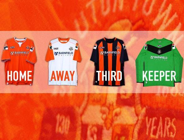 New Luton Town Kits 15/16- FILA Luton Home Away Third Shirts 2015-16