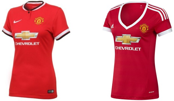 Manchester United Ladies Jersey Comparison Nike Adidas