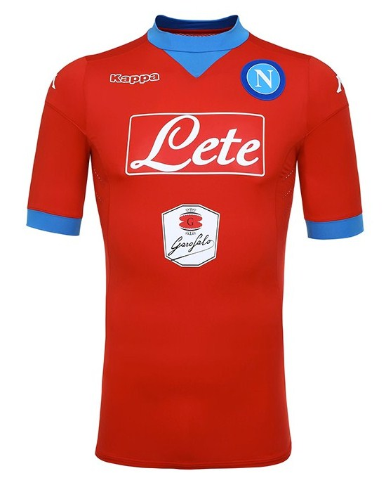 New Napoli Kappa Jersey 2015-16 SSC Napoli Home & Red Third Kits 15-16