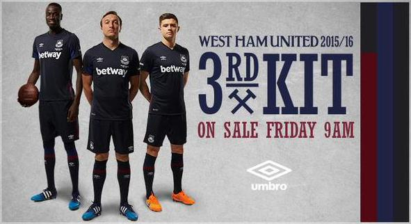 West Ham Third Kit 2015 16